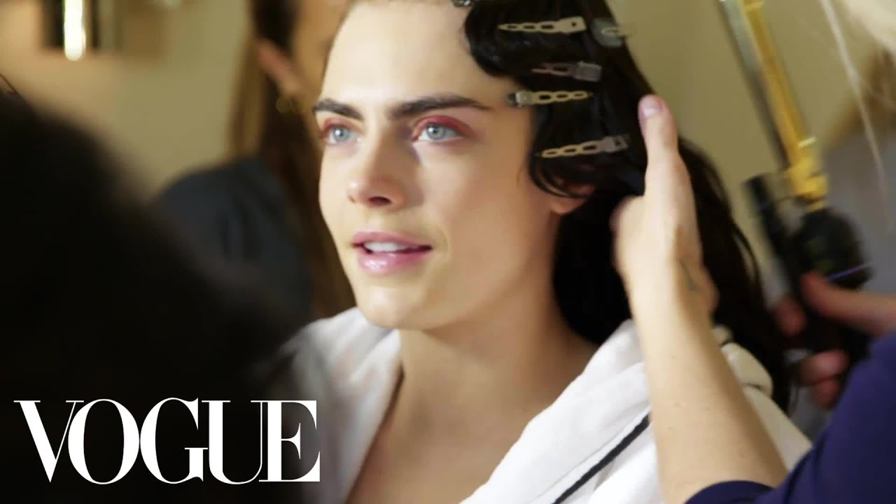 Cara Delevingne Gets Ready for the Met Gala   Vogue